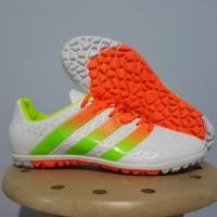Sepatu futsal / putsal / footsal Adidas Ace 2016 White / Orange TF / G