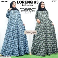 baju wanita gamis loreng#3 muslim modern lucu unik