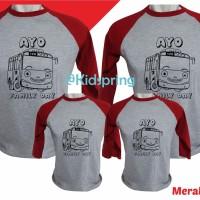 kaos/baju seragam family keluarga Couple/tayo/kaos anak