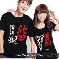 Pusat Baju Kapel Kaos Pacaran Terbaru Kaos Couple Love Cleo Hitam