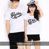 Pusat Baju Kapel Kaos Pacaran Terbaru Kaos Couple Hubby Wife Putih