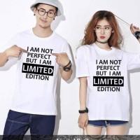 Pusat Baju Kapel Kaos Pacaran Terbaru Kaos Couple Limited Putih