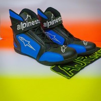 Sepatu drag touring alpinestar k1 hitam biru