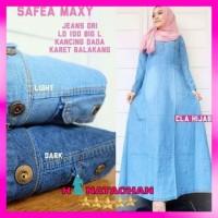 Baju Gamis Wanita Busui Terbaru / Safea Maxi Dress / Gamis Jeans