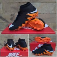 Sepatu Sepak Bola Anak Nike Hypervenom High Hitam Oren Import