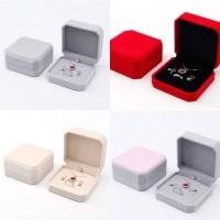 Kotak Set Perhiasan Kalung Anting Cincin Box Hantaran Velvet Bludru