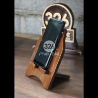 Dudukan HP Android Iphone - Sandaran HP Kayu - Smartphone Docking