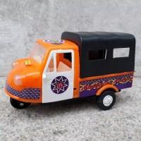 Mainan mobil bemo klasik - mainan becak motor edukasi anak