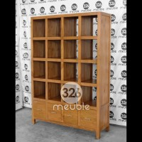 Rak Buku Minimalis Jati, Sekat Ruangan Jati, Partisi Ruangan