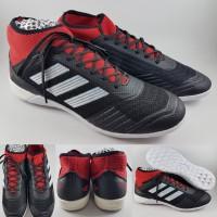 Sepatu Futsal Adidas Predator 18.1 IC Sol Datar Black Red Hitam Merah