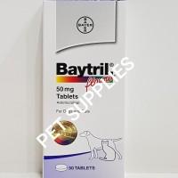 Baytril flavour 50 mg, antibiotik anjing dan kucing