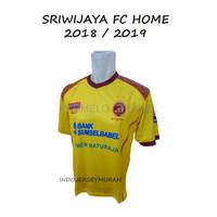 KAOS BOLA BAJU BOLA TERBARU JERSEY LOKAL SRIWIJAYA FC HOME KUNING GRA