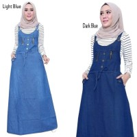 Overall Jumpsuit Anvauly Casual Maxi Longdress Jeans Wanita