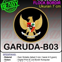Patch Badge Flock BORDIR INDONESIA GARUDA [B03]