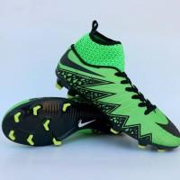 sepatu bola nike hypervenom high hitam hijau list putih baru murah