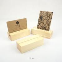 IZEMU TORU SET of 3, Card Stand / Dudukan Kartu Nama Kayu / 1 set 3 pc