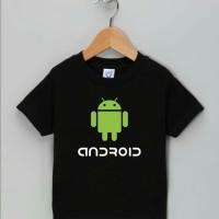 Tshirt Baju Kaos Anak Anak Android Logo - April Merch kids