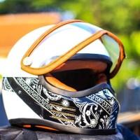 Bandit bandana helm custom. helm Harley Davidson. helm classic