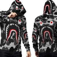Jaket Hoodie Sweater Pria CAMO BAPE SHARK 3D FullPrint PullOver 03