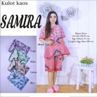 Setelan Kulot Kaos Samira Godong Piyama Batik 022 Grosir Ecer Santai