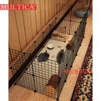Multica Kandang Kucing / Kandang Anjing / Kandang Besi Lipat Tebal G