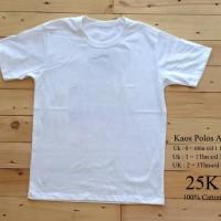 Kaos Polos T-Shirt anak/kids hitam putih
