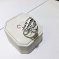 Cincin emas putih 75% berat 3 gram ukuran 11 dan 12. White gold ring