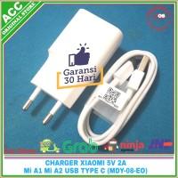 Charger Adaptor Xiaomi Mi A1 Mi A2 Original 100% USB Type C