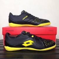 Sepatu Futsal Lotto Squadra IN Black Sunshine L01040010 Original BNIB