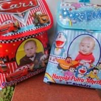 PO Tas ransel FP Custom Spunbond Goodie Bag Souvenir Ulang Tahun Anak