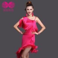 Baju dansa ballroom tanpa lengan rumbay bawah