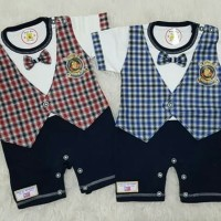 Baju Anak Bayi Laki2 Jumper Jumpsuit Romper Baju Pesta Polo Kotak