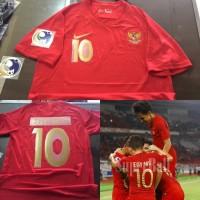 JERSEY BAJU BOLA TIMNAS INDONESIA HOME AFC CUP U-19 + NAMESET GRADE OR