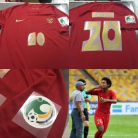 JERSEY BAJU BOLA TIMNAS INDONESIA HOME AFC CUP U-16 + NAMESET GRADE OR