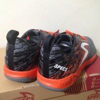 Meida Fashion Sepatu Futsal Specs Metasala Warrior Dark Granite Orange