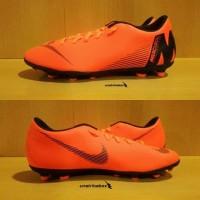 Nike Mercurial Vapor 12 Club FG MG - Orange. Sepatu Bola Nike Original