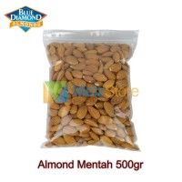 Kacang Almond Mentah Kupas Utuh Raw Whole Blue Diamond 500gr
