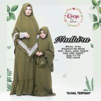 nadira syari setelan gamis muslim anak baju muslim anak cadar