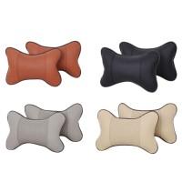 Leather Headrest Pillow / Bantal Kepala Mobil Kulit Lembut Empuk