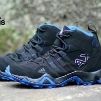 SEPATU SNEAKERS ADIDAS AX2 HIGH BLACK STRIP BLUE