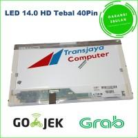 Layar LCD LED Laptop Toshiba Satellite C600 L600 L640 L645 14.0 tebal
