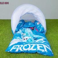 Kasur Bayi Lipat Kelambu Karakter Lucu Motif Frozen