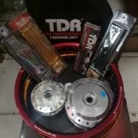Sepaket Velg TDR 2Tone Ring 14 motor vario-beat-scopy-beat fi-vario