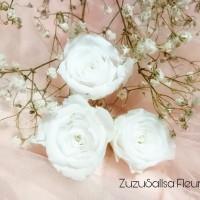 Preserved flower rose white small bunga mawar awetan abadi