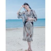 SUNFLOWER Outer Beach Top Kimono Cover Up Bikini Outer Baju Renang