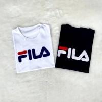 TOP Atasan T-shirt Kaos Baju Cewek Wanita Murah tumblr tee Fila NEW