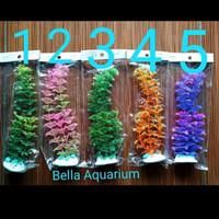 Tanaman Hias Aquarium Aquascape Sintetis Plastik Murah 19-20cm