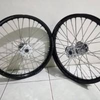 Sepaket Velg Tdr 140-140 Ring 17 Tromol Becak set jari jari CB150R C