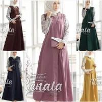 TH Maxi dress Casual /Gamis Casual /Baju Muslim Terbaru Murah Renata
