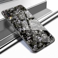 VIVO V9 V 9 Luxury Shining Marble Tempered Glass Case soft case
